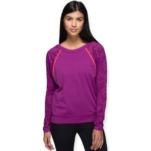 Lululemon Run For Days Long Sleeve Size 12 Purple